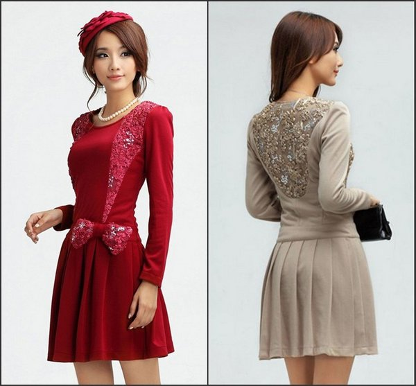 2012-New-fashion-Europe-America-Luxury-lace-appliques-bow-ruffles-slim-fit-long-sleeve-princess-dress