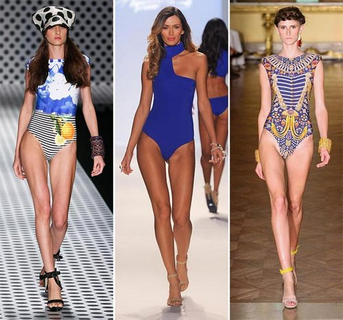 spring summer 2014 swimwear trends mono swimsuits