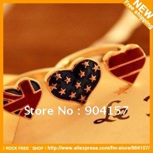Flag-star-ring-Double-rings-Personality-Alloys-Cheap-fashion-jewelry-Openings-Women-s-Free-shipping-80
