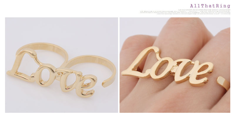 double ring love ring gold sz 6 7 8 9 10