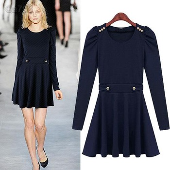 Hot-Cotton-Linen-Clothing-Dress-Fitted-Women-Dress-Fall-2013-Size-L-Solid-Winter-Women-s.jpg 350x350
