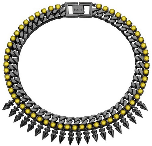 mawi-2013-neon-rocks-web-exclusives-spike-necklace-hematite-yellow