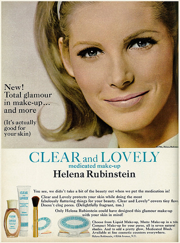1966 Beauty AdHelena Rubinstein Clear  Lovely Medicated Make-up