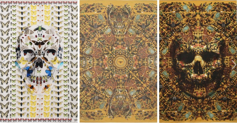 Damien-Hirst-for-Alexander-Mc-Queen-skull-butterfly-Scarves-2013-