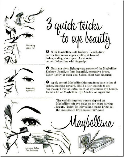1950s Maybelline ad 3 quick tricks to eye beauty thumb1