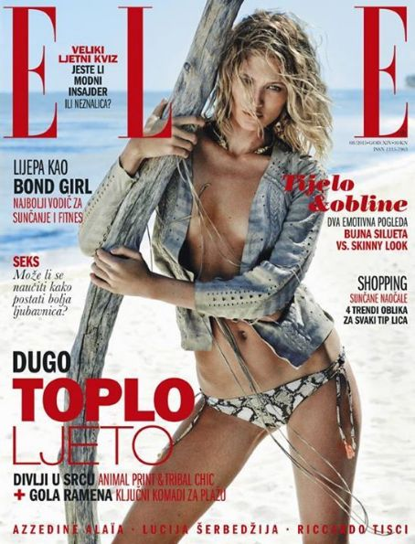 Michelle Buswell - Elle Magazine Cover Croatia August 2015