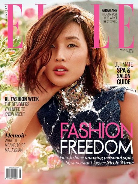 Nicole Warne - Elle Magazine Cover Malaysia August 2015