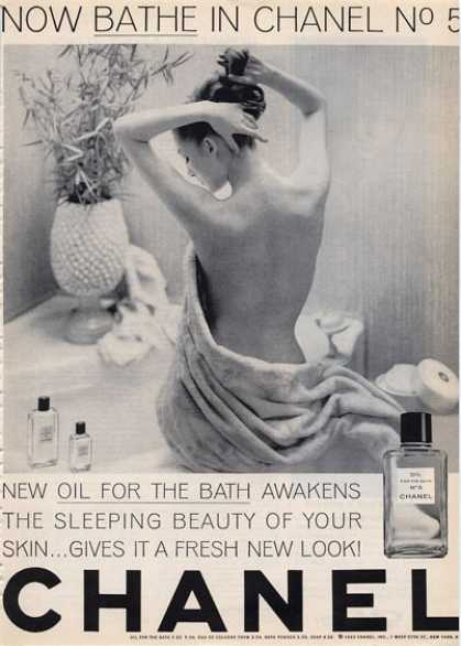 Chanel No 5 Now Bathe In Woman 1964