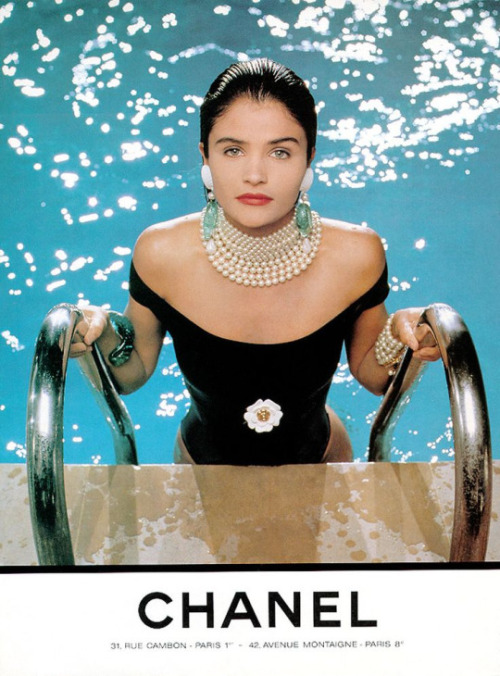 Helena Christensen by Karl Lagerfeld for Chanel 1990