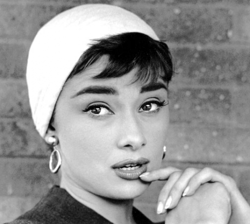 sabrina audrey-sabrina-close-up-white-hat-and-hoop-earrings