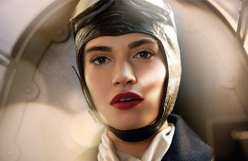 Lily-James-Aviator-Tale-Thomas-Burberry