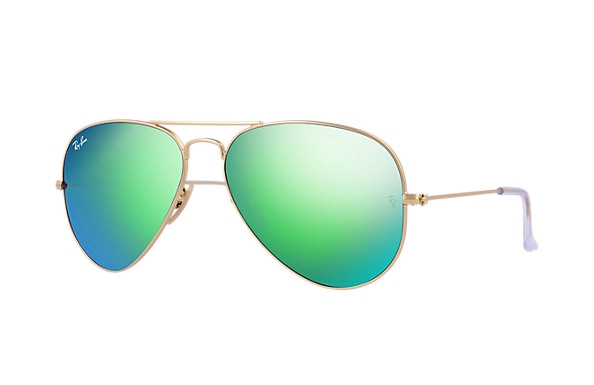 Ray Ban Green Mirrored Aviator