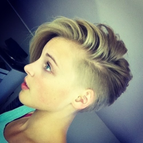 asymmetric undercut brunette hairstyle