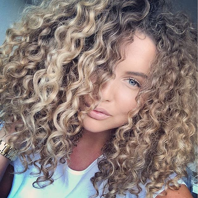 blond curly