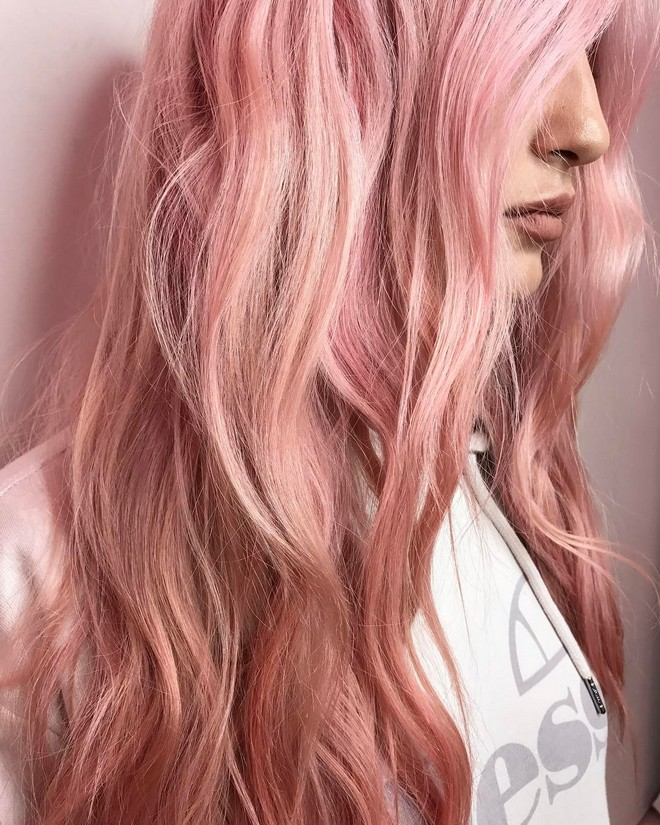 rose gold beach waves