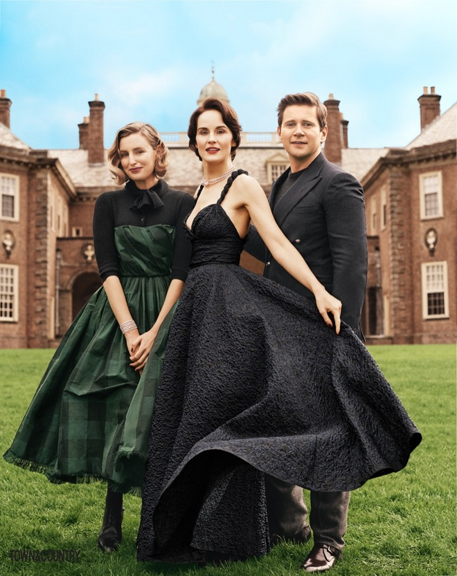 Downton Abbey Town Country Cover Photoshoot02
