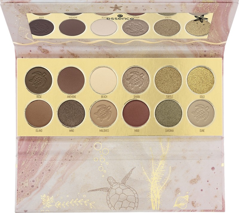 4059729281661 essence Turtle Youre In My Circle Eyeshadow Palette Image Front View Full Open png