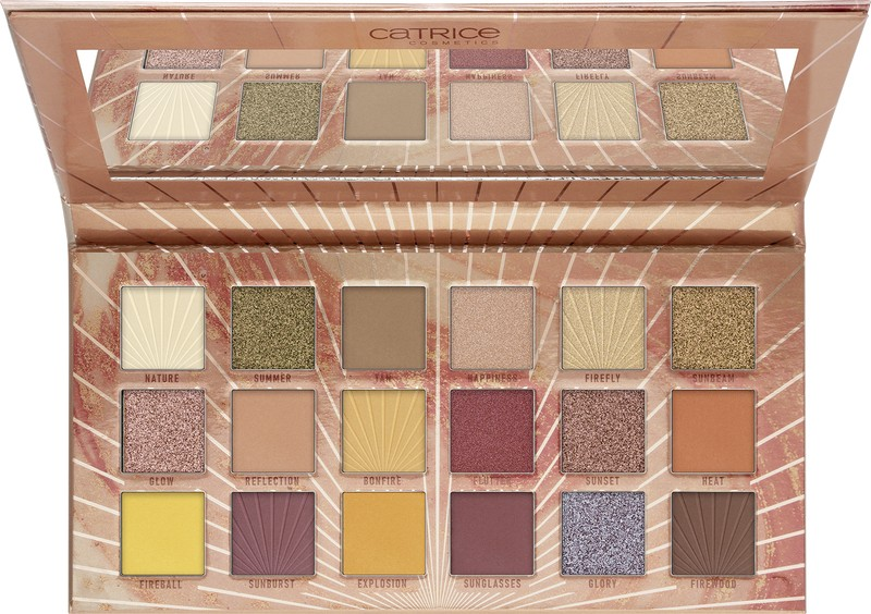 4059729281722 Catrice Reach Up For The Sunrise 18 Colour Eyeshadow Palette Image Front View Full Open png
