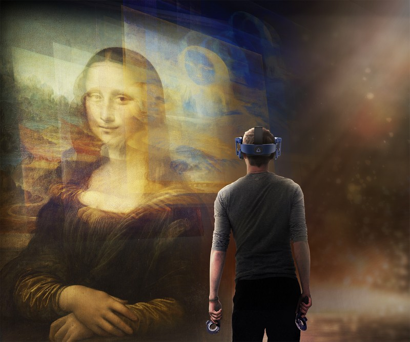 Still from Mona Lisa Beyond the Glass Courtesy Emissive and HTC Vive Arts 4