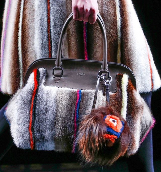 Fendi Karlito Fur Bag Charm
